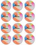 Kosma Juego de 12 pelotas de hockey de hoyuelos | pelotas de entrenamiento de PVC para deportes al aire libre (multicolor)