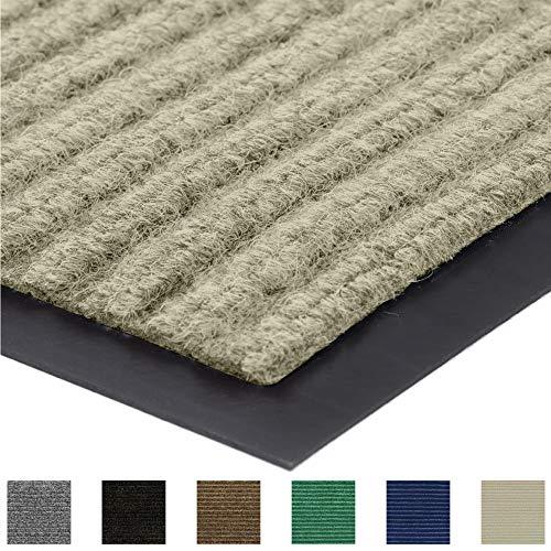 Gorilla Grip Original Low Profile Rubber Door Mat, 47x35, Heavy Duty, Durable Doormat for Indoor and Outdoor, Waterproof, Easy Clean, Home Rug Mats for Entry, Patio, High Traffic, Beige