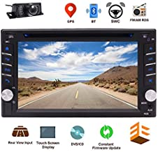 EINCAR Bluetooth Car CD DVD Player 6.2 Inch Capacitive Touch Screen in Dash GPS Navigation Double Din Car Stereo Head Unit Radio Receiver with Auto Audio Video Monitor System SD map + Backup Camera