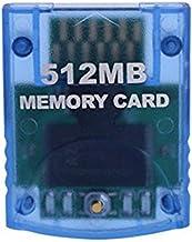 Mekela Memory Card 512MB (8192 Blocks) Compatible for Nintendo Wii Gamecube Game Cube NGC GC (Blue)