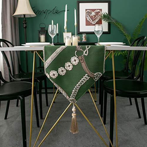 YIJTE Camino de Mesa Moderna Minimalista Jacquard Mantel Mantel Tabla de Cena de Lujo Corredores de Cama Decoración Hotel Table Adecuado para hogar Moderno. (Color : G, Size : 32x140cm)