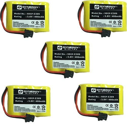 ATT Max 52% OFF 1187 Cordless Phone Battery Includes: SDCP-C Price reduction x Combo-Pack 5