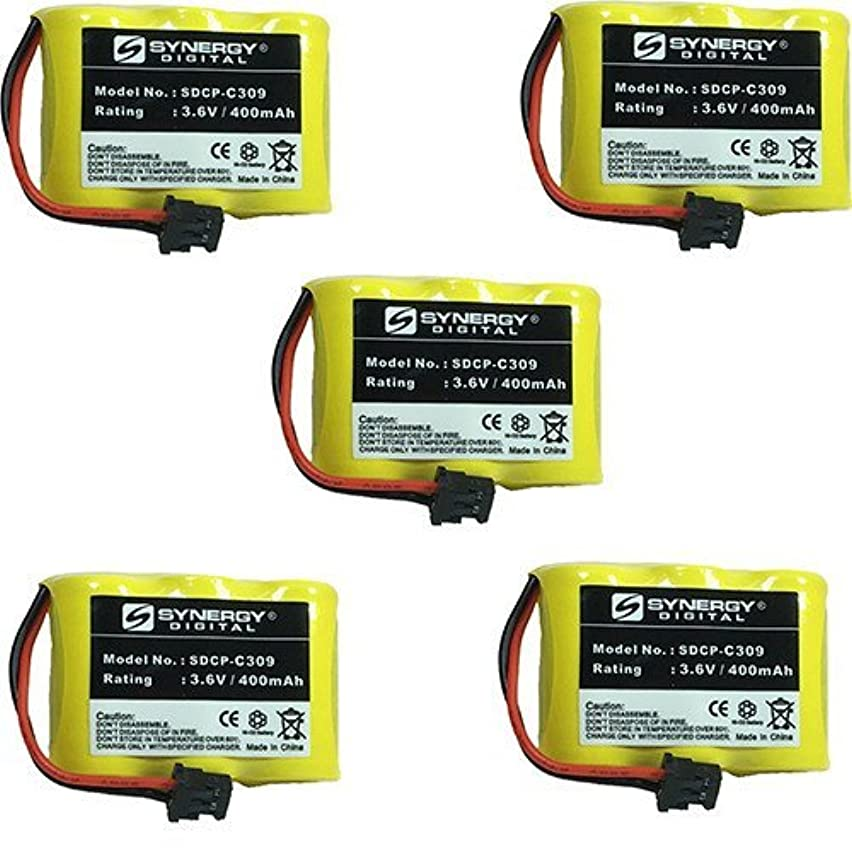 at&T 5400 Cordless Phone Battery Combo-Pack Includes: 5 x SDCP-C309 Batteries