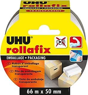 UHU Rollafix Verpakkingstape Transparant 66 m x 50 mm