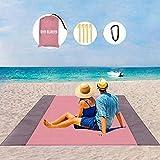 LIN KANG Manta de pícnic 200 x 210 cm, manta playa, impermeable, ligera lona lluvia para camping, portátil, esterilla playa ligera, adecuada picnic (200 rosa)