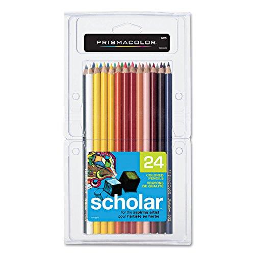 Scholar Colored Woodcase Pencils 24 Assorted Colors/Set - Prismacolor 92805