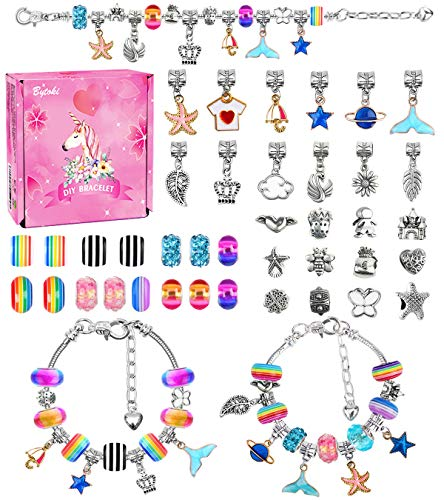 Girls Gifts for 5 6 7 8 9 10 Year Old Girls, Girls Charm Bracelet Making Kit for 4 5 6 7 8 9 Year 0ld Girls Toys for Girls Ages 8 9 10 11 12 DIY Jewellery Making Kit for Kids Gifts for Teenage Girls
