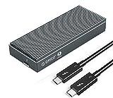 ORICO Thunderbolt 3 (40 Gbps) Carcasa SSD M.2 NVMe PCIe SSD M2 2280 PCIe M-Key con cable Thunderbolt 3 de 0,5 m (SSD no incluido)
