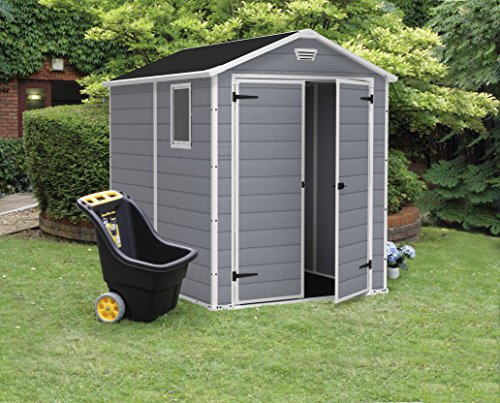 Large Resin Outdoor Shed Kit for Lawn Mower and Bike Storage