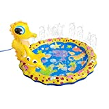 Sysow Juguete de agua para el jardín para niños, alfombrilla para salpicaduras, alfombrilla de juego para niños, alfombrilla para splash y aspersores, alfombrilla para piscina infantil