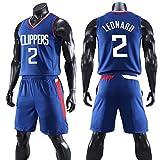 Dybory camiseta de baloncesto para hombre, NBA Los Angeles #13 Paul George Basketball Swingman Jersey traje, camiseta de aficionados y pantalones cortos Set para deportes de gimnasia, azul, 4XL