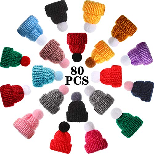 Willbond 80 Mini Gorro Punto Navidad Mini