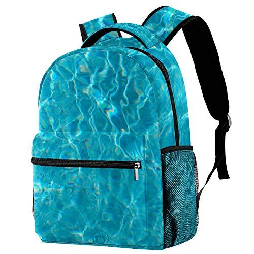 Mochila de las olas del mar Mochila de la escuela, bolsa de libro casual para viajes, estampado 6 (Multicolor) - bbackpacks004