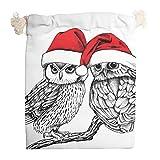 Ainiteey Christmas Animal Happy Set de 6 bolsas multiusos con cordón impreso bolsa de almacenamiento organizador de viaje con cierre de cordón bolsas de regalo