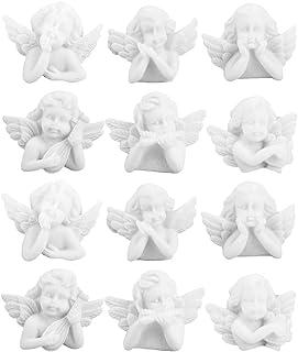 EXCEART 40 Pièces Cupidon Bébé Ange Flatback Résine Cabochons Charmes Ange Miniatures Figurines Embellissements Ornements ...