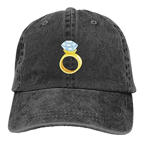 huatongxin Anillo de Diamantes Sombrero de Vaquero Ajustable Unisex Gorra de béisbol de algodón para Adultos