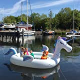 New Wave Swim Buoy WAVETM Piscina y Barco Hinchable Gigante con Unicornio