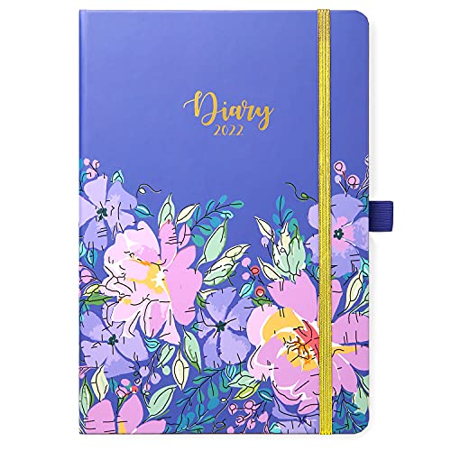 2022 Diary – Week to View Diary A5 Weekly Pages for Daily Plan, Covers from January 2022 to December 2022, Exquisite Diary for Planning