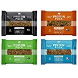 Protein Puck 4 Flavor Protein Bar Variety Pack, (4 Peanut Butter, 4 Almond Butter, 4 Sunflower Butter, 4 Cocoa Cinnamon) 16 Bars