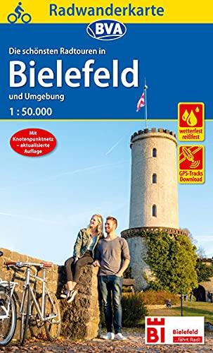 Radwanderkarte BVA Radwandern in Bielefeld und Umgebung 1:50.000, reiß- und wetterfest, GPS-Tracks Download (Radwanderkarte 1:50.000)