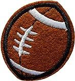 5,2x4,2cm Ballon Rugby Football Américain Patch Sport Écusson Tissus Thermocollant à Coller au Fer à Repasser Ou à Coudre Cameleon-Shop