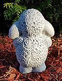 Gartenfigur niedliches Schaf Trudi groß frostfest Handmade Dekofigur für außen Garten Terassen Balkon Gartendeko - 3