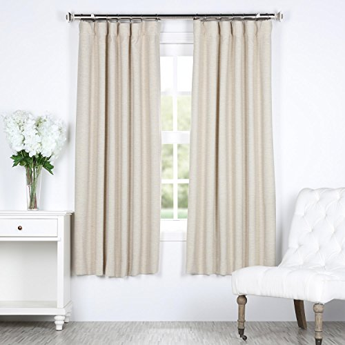 HPD Half Price Drapes BOCH-PL4201-63 Bellino Blackout Room Darkening Curtain (1 Panel), 50 X 63, Oat Cream