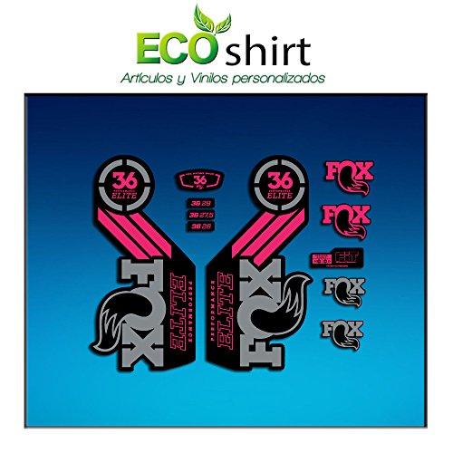 Ecoshirt 1D-GBU0-FEOM Autocollants Fork Fox 36 Performance Elite 2016 Am105 Autocollants Fourche Gabel Fourche Gris Rose