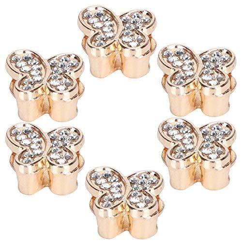 Laarzen Gesp, Bovendeel 6 stks Bruiloft Schoen Clips Bridal All-Match voor Dame voor Meisje voor(HW1314 Butterfly Type Full Diamond)
