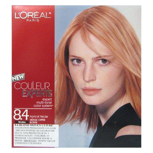 L 'Oréal–Haarfarbe multi-tons Nektar von apricot Mittelblond Kupfer–Farbe Expertin 8.4