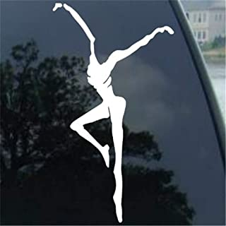Wall Art Decor Decals Removable Mural Car Decal Car Sticker Fire Dancer Symbol Parody Auto Band Decal 6'' White Accessories décor