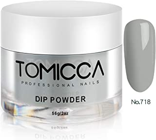 TOMICCA Acrylic Powder Dipping Powder for Nails 2 Ounce (Gray)