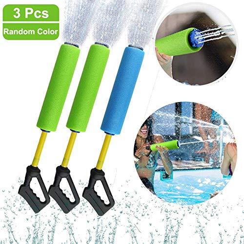 Waterblaster/watersproeier/waterpistool,blaster gun met 5 wateruitlaten - Set van 3,EVA-schuim Trekkend type waterpistolen Speelgoed Drifting waterspeelgoed (willekeurige kleuren)