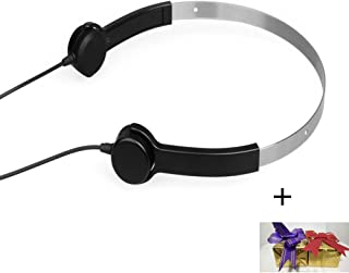 Optimum Bone Conduction Headphones Hearing Aids Bone Conduction Headset Audiphone Deaf Aid and Bone Conduction Earphones Good Gift for Mother and Father (Black with Gift Package)