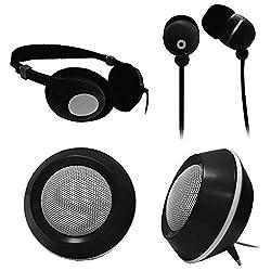 small Craig Electronics CMA3224 Combo 3-in-1 Audio Package – Headphones, Earphones, Two Speakers