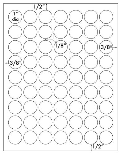 1,260 Label Outfitters 1 inch Round Circular White Laser and Inkjet Labels - Stickers, 20 Sheets Photo #4