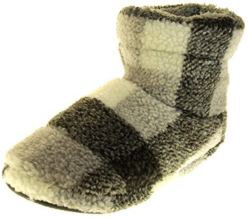 Dunlop Hombre Gris/Blanco Botas de Piel Sint�Tica Zapatillas EU 42-43
