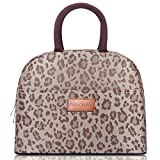 BALORAY Lunch Bag for Women Stylish Lunch Tote Bag Insulated Lunch Cooler Bag for Women Adult Lunch Box Lunch Pail Perfect for Work/Picnic (G-197L Brown Leopard)