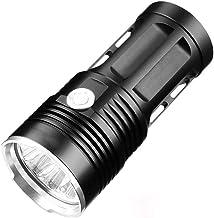 SF34 Krachtige LED Zaklamp High Power Zaklamp 18650 Zoeklicht Zaklamp Camping Fiets Licht, Zwart, 5 * T6, Handgereedschap