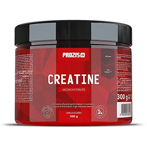 Prozis Creatina monohidrato Estimular la Fuerza, el Crecimiento y el Desarrollo Muscular, Natural - 300 g