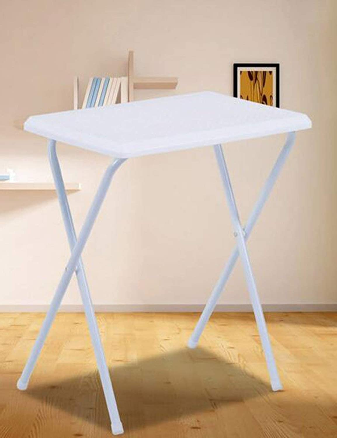 DEED Table- Plastic Light Fold Table Portable Stall Tables Writing Desk Simple Computer Desk Learning Mobile Desk Save Space Dormitory Student Easy Lazy Bed Simple Home