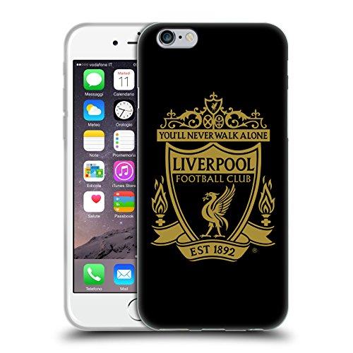 Head Case Designs Offizielle Liverpool Football Club Schwarz 3 Crest 1 Soft Gel Handyhülle Hülle Huelle kompatibel mit Apple iPhone 6 / iPhone 6s