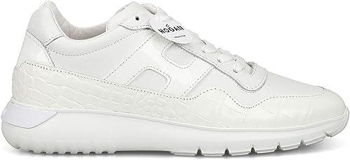 Hogan Damen HXW3710AP21KL9B001 Weißs Leder Turnschuhe