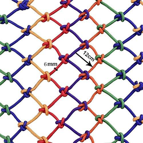 N / A Kindersicherheitsnetz, Balkonschutznetz Treppen, Bruchsicheres Netz, Kindergarten, Dekoratives Farbnetz Zaunnetz, Handgewebtes Netz 3x4m(Size:4 * 5m)