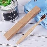 El cepillo de dientes de bambú de color de piel suave de material de bambú degradable le da a los dientes el mejor efecto de limpieza Piel suave marrón 4 piezas