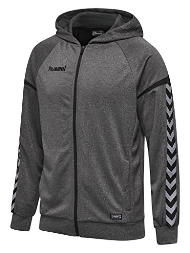 Hummel Herren Kapuzenjacke Authentic Charge Zip Hoodie 33416 Dark Grey Melange M