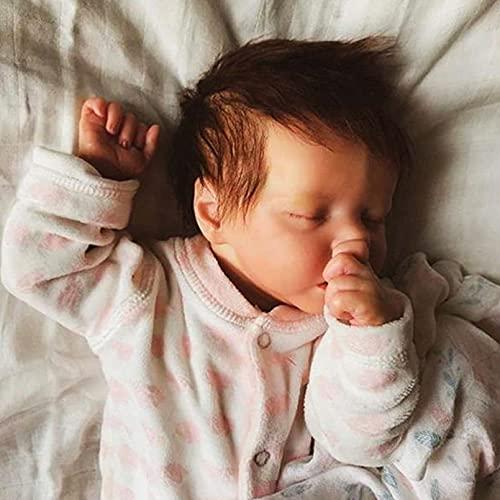 YANE Reborn Baby Dolls Ragazza 18 Pollici Silicone Full Body Morbida Bambola Realistica Reborn Sembra Vero Toddler Baby Realistici Giocattoli per Bambini per età 3-6 Anni