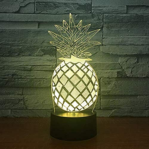 3D Illusion 7 Color Touch Piña Coon Girl Princes Adulto ren Adult Sui 7 colores Sensor Room Decoration Bedroom Lights Led Night Lights for Children Kids Baby