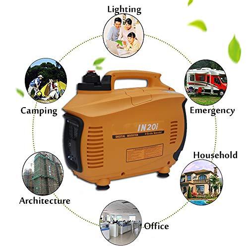 QWERTOUY 3500W 3L Gasolina portátil Digital generador del inversor 3.5KW Gasolina Generador de Gasolina Gasolina al Aire Libre Powered generador y Motor