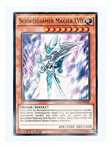 YGLD-DEC04 Schweigsamer Magier LV8 1. Auflage im Set mit original Gwindi Kartenschutzhülle